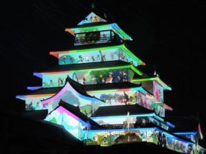 「鶴ヶ城プロジェクションマッピングはるか2014」本日より公開