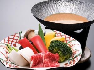 ★秋鍋★牛肉とたっぷり秋の温野菜~合わせ味噌ダレ~