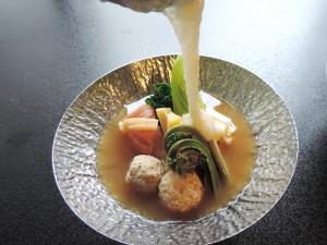 【春鍋】春野菜とつくね芋のとろろ仕立