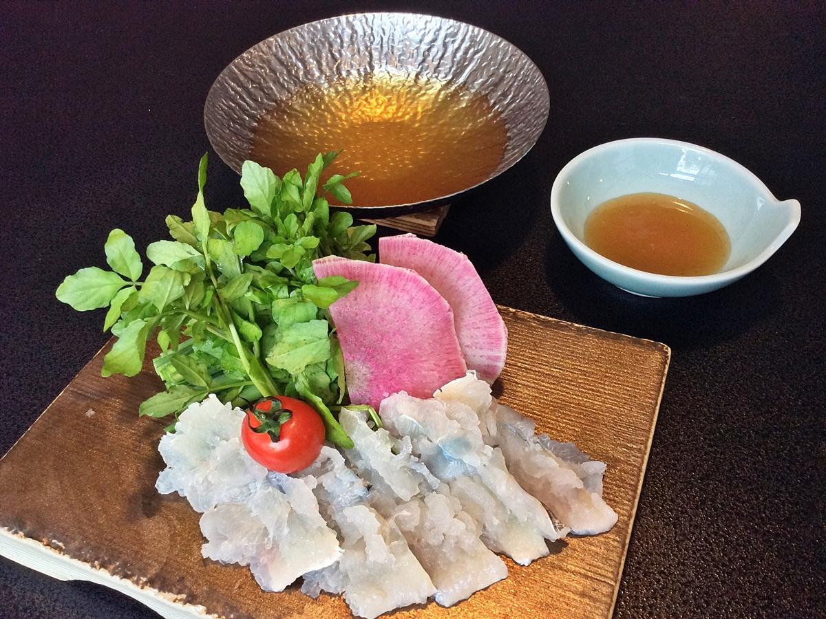 【夏鍋】鱧と夏野菜のしゃぶしゃぶ